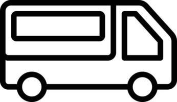 icône de ligne pour camionnette vecteur