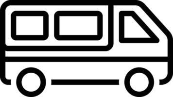 icône de ligne pour van vecteur