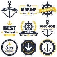 logo vectoriel rétro nautique pour bannière