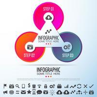 Modèle de conception d'infographie de cercle vecteur