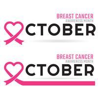 Sensibilisation au cancer du sein Fond de vecteur