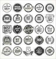 Étiquettes et badges vintage rétro vecteur