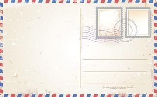 Design rétro de carte postale