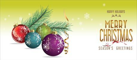Fond de Noël avec des décorations vecteur