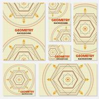 Géométrie rétro ancienne Style Vintage Modèle de conception vecteur