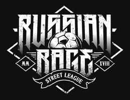 Typographie de la rage russe vecteur