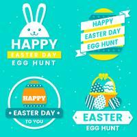 Logo vectoriel de jour de Pâques pour bannière