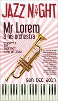 Illustration vectorielle de Poster Jazz Festival Trumpet