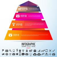 Modèle de conception infographie géométrique