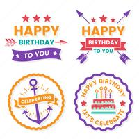 Joyeux anniversaire logo vectoriel pour bannière