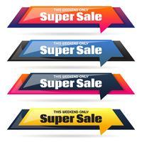 Modèle de conception de bannière de vente vecteur