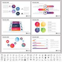 Éléments modernes d'infographie pour les modèles de présentations pour la bannière