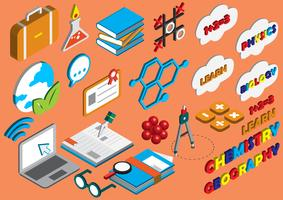 illustration du concept d'icônes graphiques éducation info