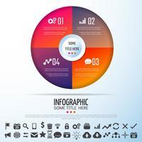 Modèle de conception d'infographie de cercle