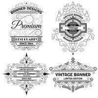 Modèle de conception étiquette de fond vintage vecteur