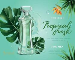 publicité de parfum réaliste vecteur