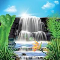 l'eau tombe fond réaliste vecteur