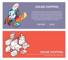 illustration du concept de jeu d'achats en ligne graphique d'informations