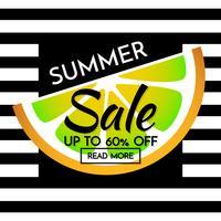 bannière de modèle de vente de l'été Vector background