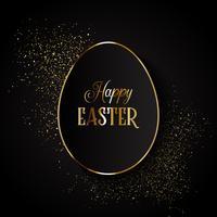 Fond de Pâques élégant avec la forme de l'oeuf sur les paillettes