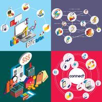 illustration du concept de jeu graphique entreprise info