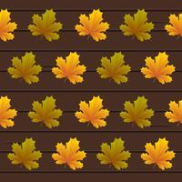 Motif de feuilles sans soudure fond de vecteur