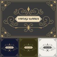 Modèle de conception de style fond Vintage vecteur