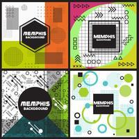 Modèle de conception de style d'arrière-plan Memphis