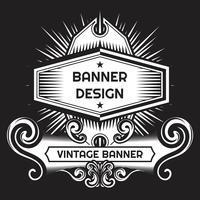 Modèle de conception de style vintage fond lable vecteur