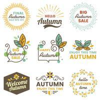 Logo d'automne Vintage Vector automne pour bannière