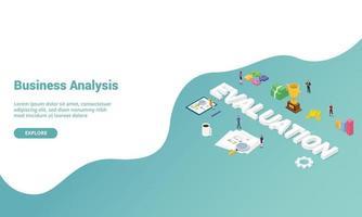 évaluation de l'entreprise analyse de la performance isométrique vecteur