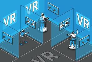 fond de réalité virtuelle vecteur