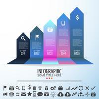 Modèle de conception infographie flèche