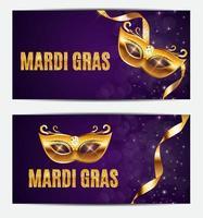 fond d'affiche de vacances de masque de fête de mardi gras. illustration vectorielle vecteur