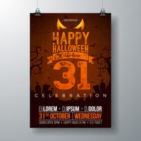 Illustration vectorielle de Halloween Party flyer