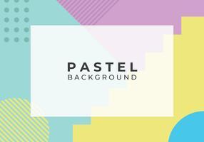 Fond pastel abstrait géométrique vecteur