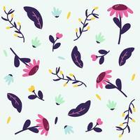 Fond de fleurs colorées vecteur