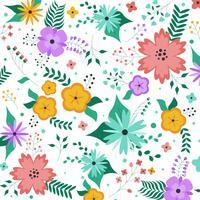 Vecteur de fond de fleurs colorées