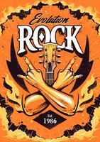 Modèle de conception d'affiche rock vecteur