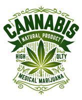 Emblème de vecteur de cannabis