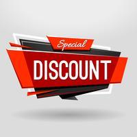 Bannière Géométrique Discount vecteur