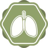 Icône remplie de poumons