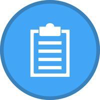 Liste remplie de presse-papiers icône