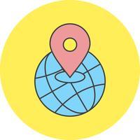 icône de localisation mondiale vector