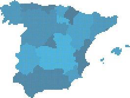 carte d'Espagne cercle bleu sur fond blanc. illustration vectorielle. vecteur