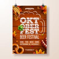Illustration vectorielle affiche Oktoberfest