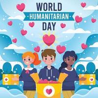 volontaires de la journée humanitaire mondiale vecteur