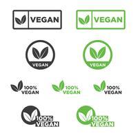 Jeu d'icônes végétalien. vecteur