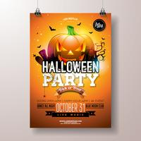 Illustration de flyer fête d'Halloween vecteur