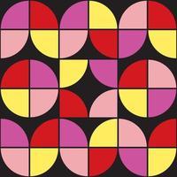 Motif de formes géométriques des années 70. style vintage du milieu du siècle. vecteur